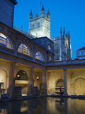 The Great Bath  Roman Baths  Bath  UNESCO World Heritage Site  Avon  England  UK  Europe