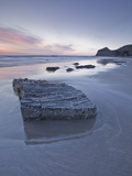 The Strangles Beach on the North Cornwall Coastline at Sunset  Cornwall  England  UK  Europe