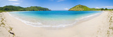 Mawun Beach  South Lombok  a Panorama Showing the Whole Half Moon Bay  Indonesia  Southeast Asia