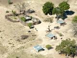 View of Local Village  Impalila Island at Meeting of Zambezi and Chobe Rivers  Namibia
