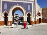 Entrance to the Medina  Souq  Bab Boujeloud (Bab Bou Jeloud) (Blue Gate)  Fez  Morocco