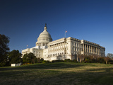 US Capitol Complex and Capitol Building Showing Current Renovation Work on Dome  Washington DC  USA