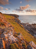 Looking Down the Cornish Coastline Towards Geevor Mine  Cornwall  England  United Kingdom  Europe