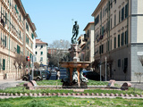 Neptune and the Nereids Fountain  Piazza Modigliani  Livorno  Tuscany  Italy  Europe