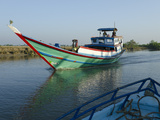 Boat on Waterway in the Irrawaddy Delta  Myanmar (Burma)  Asia