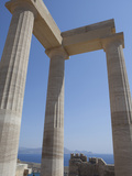 The Acropolis of Lindos  Rhodes  Dodecanese  Greek Islands  Greece  Europe