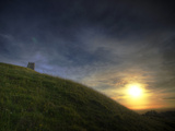Sunset on Glastonbury Tor  Somerset  England  United Kingdom  Europe