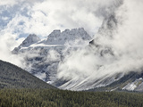 Snow-Covered Mountains Among Clouds  Banff Nat'l Park  UNESCO World Heritage Site  Alberta  Canada