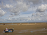 Boats on the Beach Near New Brighton  Wirral Peninsula  Merseyside  England  United Kingdom  Europe