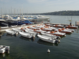 Boats on Lake Geneva  Geneva  Switzerland  Europe