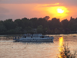 Cruise Boat  River Dnipro  Kiev  Ukraine  Europe