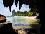 Limestone Karst Rocks at Phra Nang Beach  South Islands  Thailand  Southeast Asia  Asia