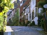 View Along Cobbled Mermaid Street  Rye  East Sussex  England  United Kingdom  Europe
