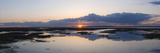 Sunset over Marshes of Chichester Harbour on a Very Still Evening  West Sussex  England  UK  Europe
