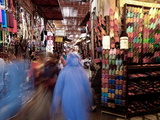 Soft Leather Moroccan Slippers in the Souk  Medina  Marrakesh  Morocco  North Africa  Africa