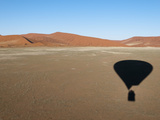 Hot Air Balloon Shadow on Desert  Namib Naukluft Park  Namib Desert  Namibia  Africa