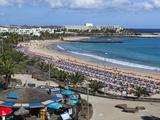 Playa de Las Cucharas  Costa Teguise  Lanzarote  Canary Islands  Spain  Atlantic  Europe