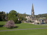 Edensor Parish Church in Spring  Derbyshire  England  United Kingdom  Europe
