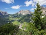 View from Col Alto  Corvara  Badia Valley  Bolzano Province  Trentino-Alto Adige/South Tyrol  Italy