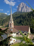 Church in St Cristina Overlooked by Sassolungo Mountain  Trentino-Alto Adige/South Tyrol  Italy
