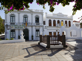 Plaza de La Constitucion and Ayuntamiento (Town Hall)  Haria  Lanzarote  Canary Islands  Spain