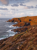 Looking Towards Pendeen Lighthouse and Watch on the Cornish Coastline  Cornwall  England  UK