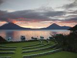 Toliman Volcano  Lago de Atitlan  Guatemala  Central America