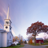 The Congregational Church  Peacham  Vermont  New England  United States of America  North America