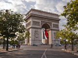 The Arc de Triomphe on the Champs Elysees in Paris  France  Europe