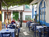 Greek Taverna in Centre of Mountain Village  Vourliotes  Samos  Aegean Islands  Greece