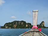 View of Rai Leh (Railay) from Longtail Boat  Andaman Coast  Krabi Province  Thailand