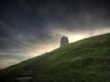 Path Up Glastonbury Tor  Somerset  England  United Kingdom  Europe