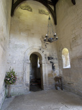 Interior of Saxon Church of St Lawrence Built 705-921AD  Bradford on Avon  Wiltshire  England