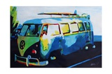 The Blue Volkswagen Surf Bus