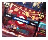 London Underground Winter before Christmas