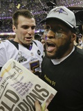Super Bowl XLVII: Ravens vs 49ers - Joe Flacco and Ray Lewis