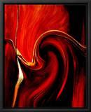 Luscious Red Tableau sur toile encadré par Ruth Palmer 2