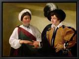 The Fortune Teller, circa 1596-97 Tableau sur toile encadré par Caravaggio