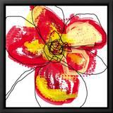 Red Petals Tableau sur toile encadré par Jan Weiss