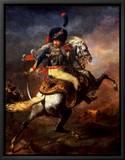 Officer of the Hussars, 1814 Tableau sur toile encadré par Théodore Géricault