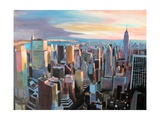 New York City - Manhattan Skyline in Warm Sunlight