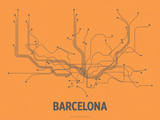 Barcelona (Orange &amp; Gray)