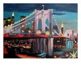 New York City - Manhattan Bridge at Night
