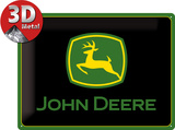 John Deere Logo black
