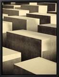 Mémorial de l'Holocauste, quartier de Mitte, Berlin, Allemagne - Denkmal Fur Die Ermordeten Juden Europas Tableau sur toile encadré par Michele Falzone