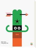 Wee You-Things, Matt Tableau sur toile par Wee Society