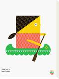 Wee You-Things, Rose Tableau sur toile par Wee Society