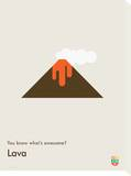 You Know What's Awesome Lava (Gray) Tableau sur toile par Wee Society