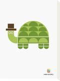 Wee Alphas, Tobias the Turtle Tableau sur toile par Wee Society