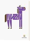 Wee Alphas, Zach the Zebra Tableau sur toile par Wee Society